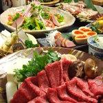 高田屋 - 国産和牛のすき焼きコース全9品飲み放題込みで4980円