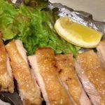 鶏の岩塩焼き