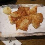 炭焼工房 飯味楽 - なんか違った味のしない「長いも唐揚(\380)」。