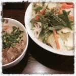 日の出らーめん - 野菜もりもりつけ麺