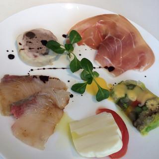 トラットリア ドン ジョヴァンニ - ランチコース:前菜5品盛り合わせ