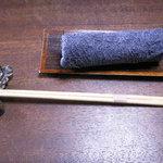 中里の庵 沾 - おしぼりと お箸