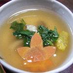 中里の庵 沾 - 豆腐の蒸し物