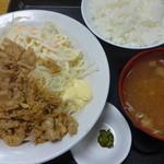食事処 志野 - 豚肉七味炒め定食:980円