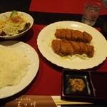 三ツ川 - 料理写真:ビーフカツ & ライス