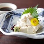 鬼河童 - 豆乳の風味が生きた濃厚な味「生湯葉のお造り」