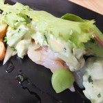 えびマリアージュきっちん - 前菜:天使の海老スモークカルパッチョ