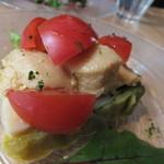 えびマリアージュきっちん - 前菜:春キャベツのテリーヌと濃厚な海老の卵豆腐