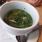 えびマリアージュきっちん - スープ:春野菜とトマトのブイヨンスープ
