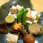 たけゆう - 料理写真:コースの酒肴盛り合わせ
