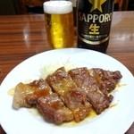 倉井ストアー - 豚ステーキとクロラベル♪