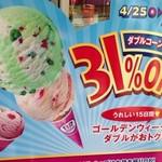 サーティワンアイスクリーム - 店頭看板