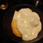 本草円山 - 豆腐のフルーツサラダ