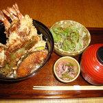 新小岩割烹 小楽 - 海老天丼(ランチ)