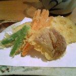 むぎきり - 野菜天ぷら