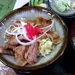 金比羅 - セットの豚バラしょうが焼き丼(2014/4)