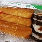 聖天寿し - 太くて長いいなり寿司3本とかんぴょう巻きが4個入り