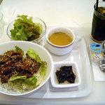 マルエフドットカフェ - 「黒豚の味噌丼(日替り)」900円