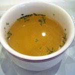 マルエフドットカフェ - 「黒豚の味噌丼」カップスープ