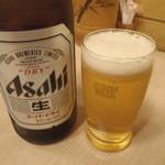 うどん屋 - 瓶ビール