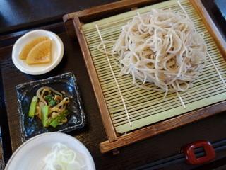 そば処 Q.庵 - もり蕎麦(¥850)尚、蕎麦粉は牡丹となります。