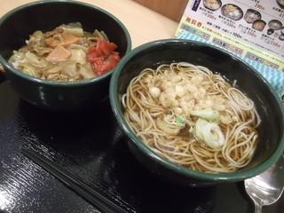 ゆで太郎 定禅寺通店 - (朝)カレー丼セット350円:温蕎麦