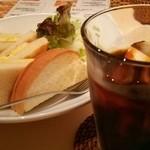 カレー&カフェ かのん - トーストサンドモーニング700円