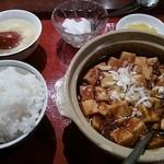 26875495 - 麻婆豆腐定食(通常735円。)