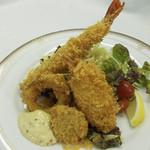 杜のレストラン - シーフードミックスフライ定食