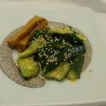 杜のレストラン - ラー油きゅうり