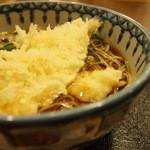 こんごう庵 - サヨリの天ぷら蕎麦(4月のメニュー)