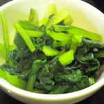 キッチン・カフェ ばる - 小松菜のおひたしはあっさりさっぱりでした