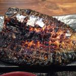 越後屋 竜之介 - 鯖のいしる干し焼アップ