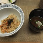 田ざわ - 201/04 赤出汁で。天ばらご飯と。