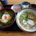 元祖 海ぶどう - 「元祖 海ぶどう丼のミニミニセット (1400円)」