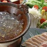 柳都庵 - 阿波尾鶏のぷるぷるコラーゲンしゃぶ鍋