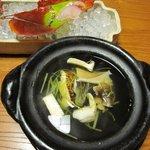比良山荘 - 岩魚と茸の土鍋仕立て