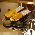 イル テアトリーノ ダ サローネ - 前菜1:サフランとマテ貝のクッキアイオ(2014.4)