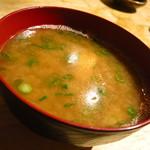 まるう商店 - 佐島 山茂丸 しらす味噌汁200円