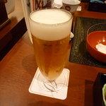 美々卯 京都伊勢丹店 - サービスビール