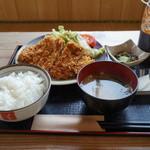 紀乃川 - 1600円『あぐ〜(黒豚)ロースカツ定食』2014年4月吉日