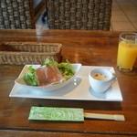 バリラックス ザ ガーデン - 生ハムサラダ ジャガイモのポタ-ジュ オレンジジュース