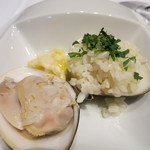 ラ・ソラシド フードリレーションレストラン - 唐津の大ハマグリとマイヤーレモンのリゾット