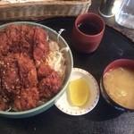松尾ジンギスカン - チキンカツ丼ダブル(900円)