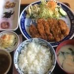 小川屋 - カツ定食(1350円)