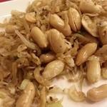銀座 赤ちょうちん - しらすとピーナッツの炒め 2014.4