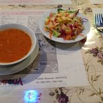 Ankara - ランチA スープ・サラダ