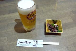 うなぎ屋 源内 - 生ビール(550円)