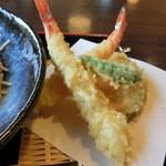 団ぷ鈴 - 天ざる蕎麦の天婦羅