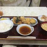 福助食堂 - 季節の野菜天ぷら定食